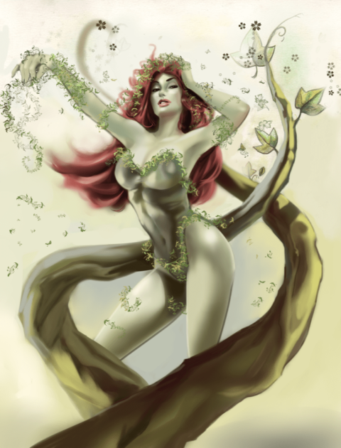 a character reminiscent of poison ivy from batman